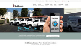 Termite Contractor Website Design | Termite Inspector Website Design | Pest Control Website Design | Termite Business Website